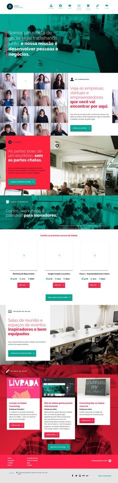 Aldeia Coworking - Webdesign inspiration www.niceoneilike.com #clean #corporate #flat