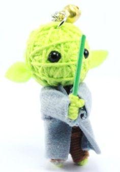 Yoda Star Wars Voodoo String Doll Keychain NaLuck. $0.50