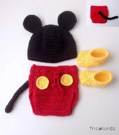 0075d34916a Conjunto de Navidad para niña de lana crochet Una ropa de mama Noel ...