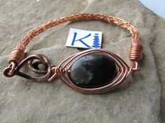 Black Labradorite Copper Bracelet Viking by KiCrystalCreations Copper Bracelet, Anklets, Labradorite, Vikings, Weaving, Trending Outfits, Unique Jewelry, Handmade Gifts, Crystals