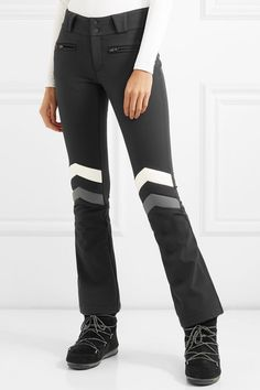 Black, gray and ivory shell Buttons and concealed zip fastening along front nylon, polyurethane; Winter Outfits, Winter Clothes, Moon Boots, Ski Pants, Girls Weekend, Skiing, Black Jeans, In This Moment, Ski