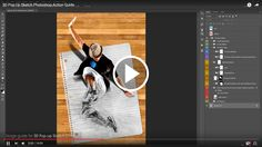 Watch the video below to get a view on how to load up and use the action:    3D Popup Sketch Photoshop Action  	Create realistic unique 3D Popup Pencil Sketch from any photo. 2 different styles of ...
