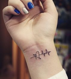heartbeat tattoo #ink #youqueen #girly #tattoos #EKG #heartbeat @youqueen