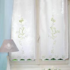 Misto lino disegnato per tende , ricamo intaglio. Decoración!