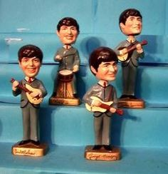 Beatles 8 Inch Car Mascots Bobbleheads Beatles Art, The Beatles, Best Memories, Childhood Memories, Coo Coo Clock, Wacky Wobbler, Rock Groups, John Paul, The Good Old Days
