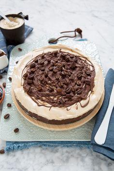 Torta Gelato Coppa del Nonno: Ricetta coppa del nonno Nutella, Fett, Coffee Time, Cheesecakes, Biscotti, Food Art, Sweet Recipes, Tiramisu, Buffet