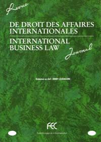 REVUE DE DROIT DES AFFAIRES INTERNATIONALES