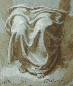 Girolamo Siciolante - drapery study