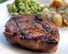 Bourbon Basted Pork Chops
