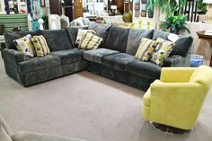 Klaussner 2 Pc Sectional and Accent Chair - Colleen's Classic Consignment, Las Vegas, NV - https://cccfurnishings.com