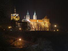 Płock, Poland. Tumskie Hill featuring Płock Castle. Julia Jaszinski Kilianski, b. 1870.
