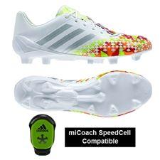 Adidas Soccer Cleats | FREE SHIPPING | F32629| Adidas Predator LZ TRX FG SL Soccer Cleats (White/Silver Metallic/Solar Slime)