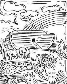 noah and the rainbow coloring page - bible stories coloring and image search on pinterest