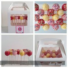 #cakepops from Gaby's Cake Pops #cakepopboxes from #brpboxshop  http://www.brpboxshop.com/cake-pop-boxes.html