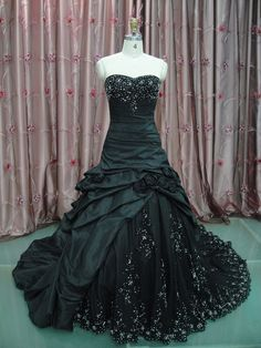 Custom Made Maggie Sottero Inspired Black Wedding Gown Dress