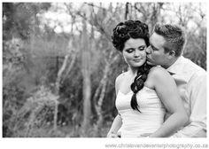 A black and white intimate image from classic wedding photographs Casa Mia Pretoria.