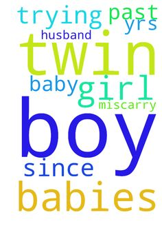 I need a twin babies a boy and girl for - I need a twin babies a boy and girl for my husband we being trying since the past 11yrs and no baby just miscarry.  Posted at: https://prayerrequest.com/t/qLh #pray #prayer #request #prayerrequest