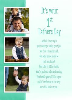 First Fathers Day Photos Father's Day Card