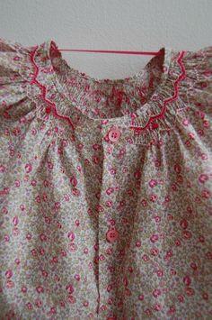 DSC_0245 Punto Smok, Smocking Patterns, Smocked Dresses, Liberty Fabric, Twin Girls, Heirloom Sewing, Back Stitch, Liberty Of London, Smock Dress