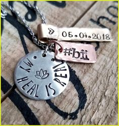 Breast Implant Disease Awareness Necklace, Bii, Sterling The Healing Is Real, Explant Anniver… – Bloğ Influenza B, Breast Implant Illness, Flu Symptoms, Anniversary Dates, Metal Chain, Dog Tag Necklace, Give It To Me, Healing
