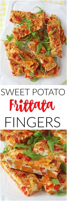 For a delicious, filling and healthy lunch try these Sweet Potato Frittata Slices. Super easy to make!
