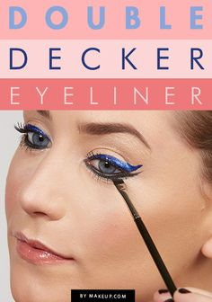 how to wear double decker eyeliner // #makeup