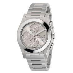 Orologio Gucci Collezione Pantheon - Cronografo automatico cassa in acciaio 44 mm e bracciale in acciaio