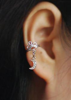 Cubic moon Ear Cuff Ear Jacket Ear Wrap by TakeOnMe7 on Etsy