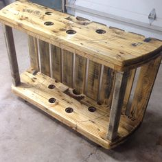 Cable Spool Media Table #CableSpool, #HomeDecor, #MediaTable