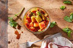 Watermelon Rind Kimchi Recipe on Food52, a recipe on Food52 Pickled Watermelon Rind, Watermelon Recipes, Vegetarian Fish Sauce, Banchan Recipe, Guacamole, Radish Kimchi, Kimchi Food, Illinois, Mexican Seasoning