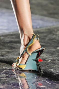 Prada heel inspired by the 1959 Cadillac... so rad.