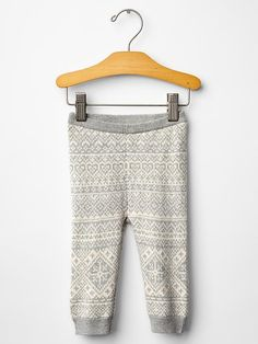 Fair isle sweater pants Product Image