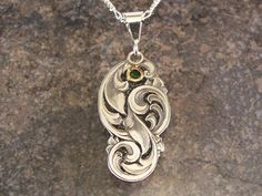 Hand Engraved Sterling Silver Scrollwork by JelliesJewelry on Etsy, $295.00