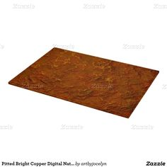 Pitted Bright Copper Digital Natural Rock Texture Cutting Boards