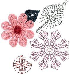 No.87 Magnolia Crochet Flower Motifs / 목련꽃 코바늘 플라워 모티브도안