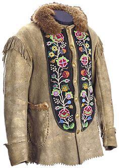 Canada's First Peoples - Louis Riel's Coat - Métis beadwork - buckskin jacket Native American Clothing, Native American Crafts, Native American History, Native American Indians, American Apparel, Canadian History, Native Beadwork, Native American Beadwork, Indigenous Art