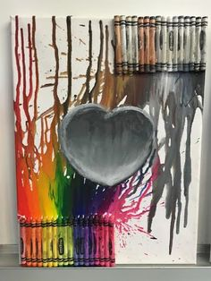 The Mansion of Little Friends is an alternative therapeutic day school for students with emotional disabilities who are unable to function in a traditional school setting. As a form of art therapy, our students created their own melted crayon art.