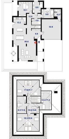 DOM.PL™ - Projekt domu DPS Orlando CE - DOM DPS1-30 - gotowy koszt budowy Orlando, 30th, Floor Plans, House, Ideas, Home Plans, Orlando Florida, Home, Thoughts
