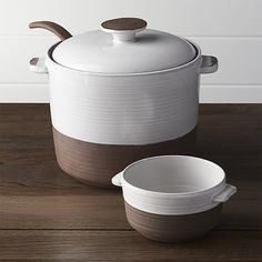 Studio Dark Clay Soup Bowl with Handles | Crate and Barrel