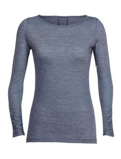 Achat W NOMI LS t shirt icebreaker femme en laine merinos T Shirts, Long Sleeve Shirts, Icebreakers, Cotton Suit, Crew Neck Shirt, Outdoor Woman, Outdoor Outfit, Clothes For Women, Sleeves
