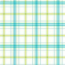 PLAID FOLK style mint & blue colours print dollhouse wallpapers also available in peel and stick version (extra charge)