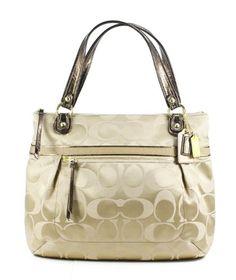Coach Poppy Signature Sateen Glam Tote Handbag « Clothing Impulse