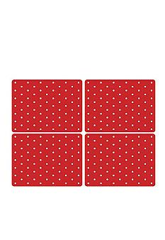 WHAT! Spode placemats! No way! I need the red ones to go with my black dishes for my fifties kitchen! Can you say AMAZING!