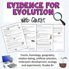 Evidence for Evolution Web quest-- covers everything you need- such a useful tool. I always struggled when finding good sources for evidence other than movies so this was a great addition to my curriculum !
