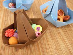 Cestinha de origami