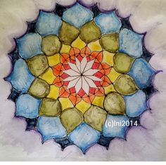 Day 2/5 Lotus Chakra Mandala done with Derwent inktense pencils on chinese water colour paper which fought me every step of the way  Will try and remember to GESSO the beeheavens out of the next one I do! #100mandalas #5dmm #lovemyderwentinktensepencils