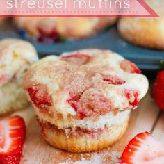 Strawberry Cheesecake Streusel Muffins {Mother's Day Recipes}