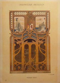 Composició d'A. de Riquer per a Carpinteria Artística (ca. 1900)