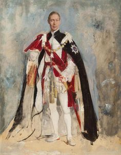 holdhard: George VI by Sir Gerald Festus Kelly Uk History, Tudor History, British History, Royal Queen, King Queen, Adele, English Royalty, Herzog, Royal House