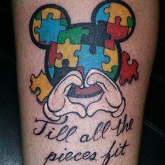 mickeymouse autismtattoo by deonya at bodytags tattoo w/ fusionink stencilstuff neotatmachines teamtatted teambodytags Mickey Mouse Autism Tattoo